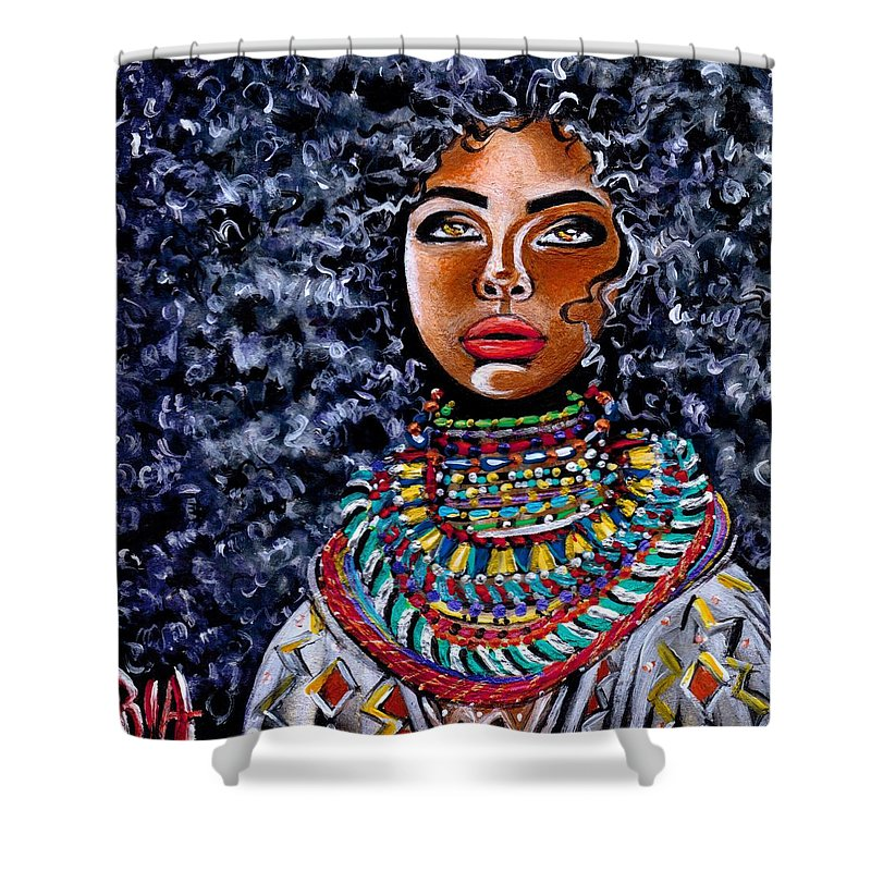 Artbyria Shower Curtain featuring the photograph Untamed Beauty by Artist RiA