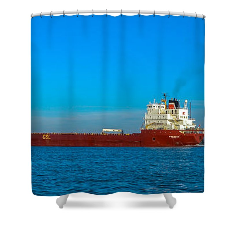 Ships Shower Curtain featuring the photograph Upbound by Gales Of November