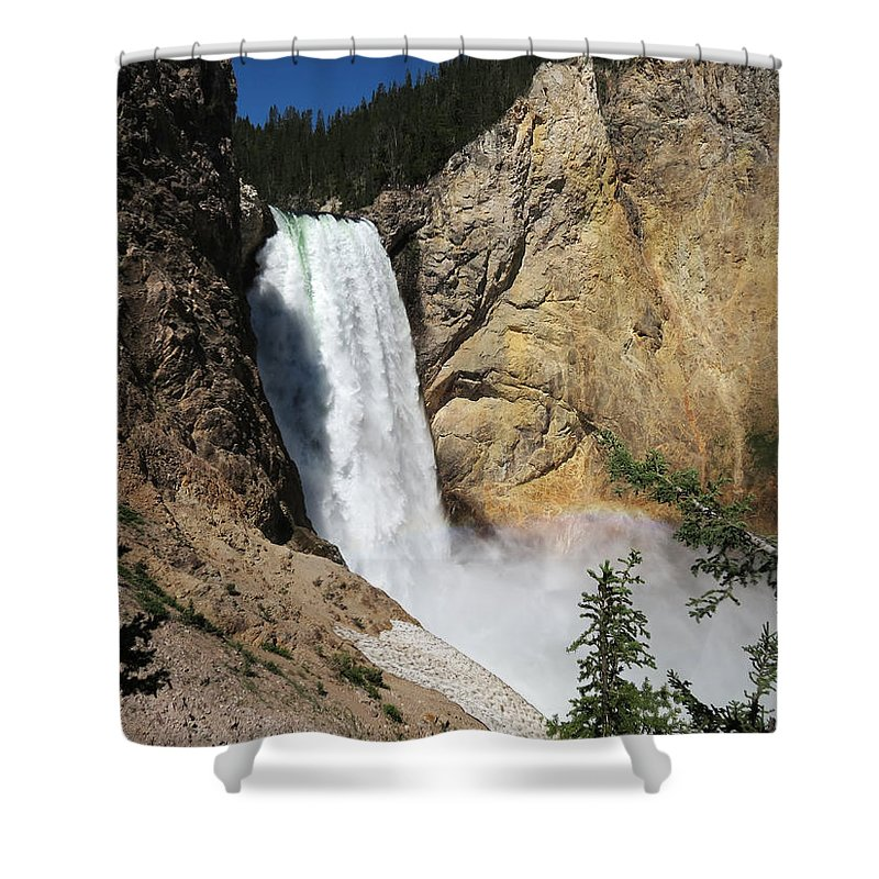 Upper Falls Yellowstone National Park Shower Curtain For Sale By Laurel Powell