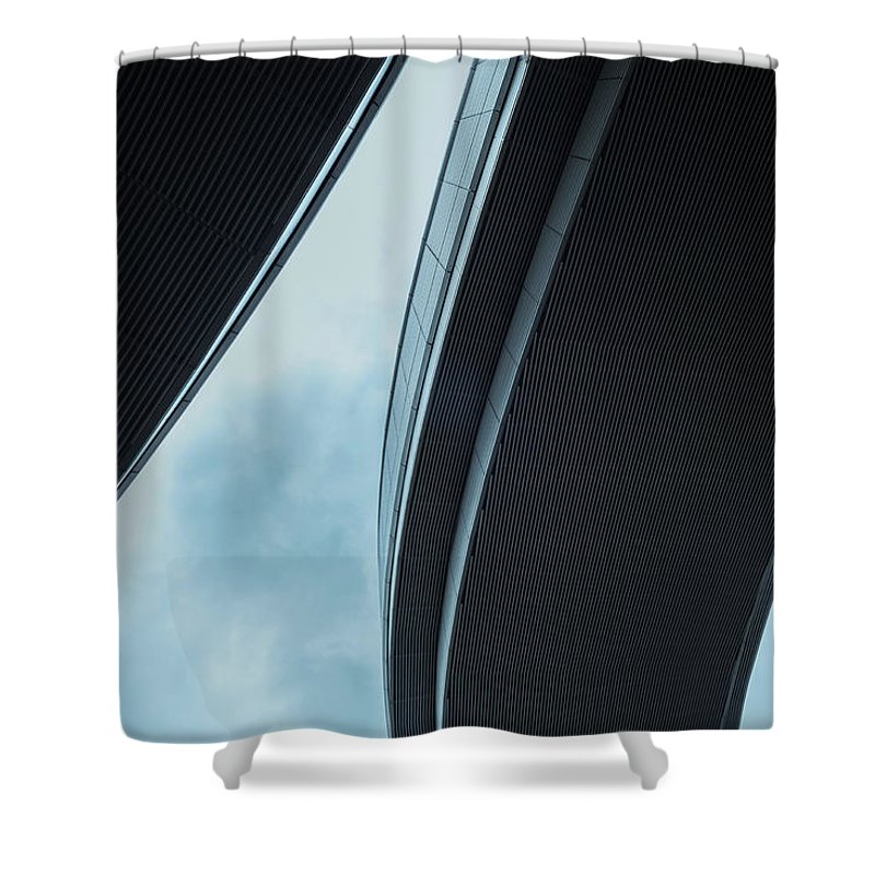Curve Shower Curtain featuring the photograph Urban Structure by Sasaki Makoto