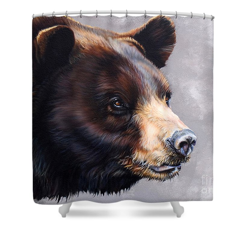 Bear Shower Curtain featuring the painting Ursa Major by J W Baker