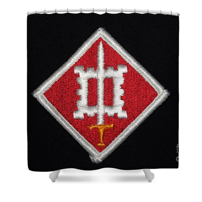 Us Army Vietnam Combat Engineers Patch Shower Curtain