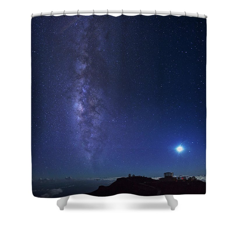 Tranquility Shower Curtain featuring the photograph Usa, Hawaii, Maui, Milky Way by Michele Falzone