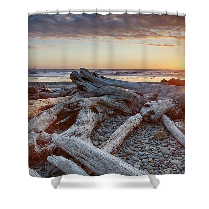 Scenics Shower Curtain featuring the photograph Usa, Washington State, Olympic National by Bryan Mullennix