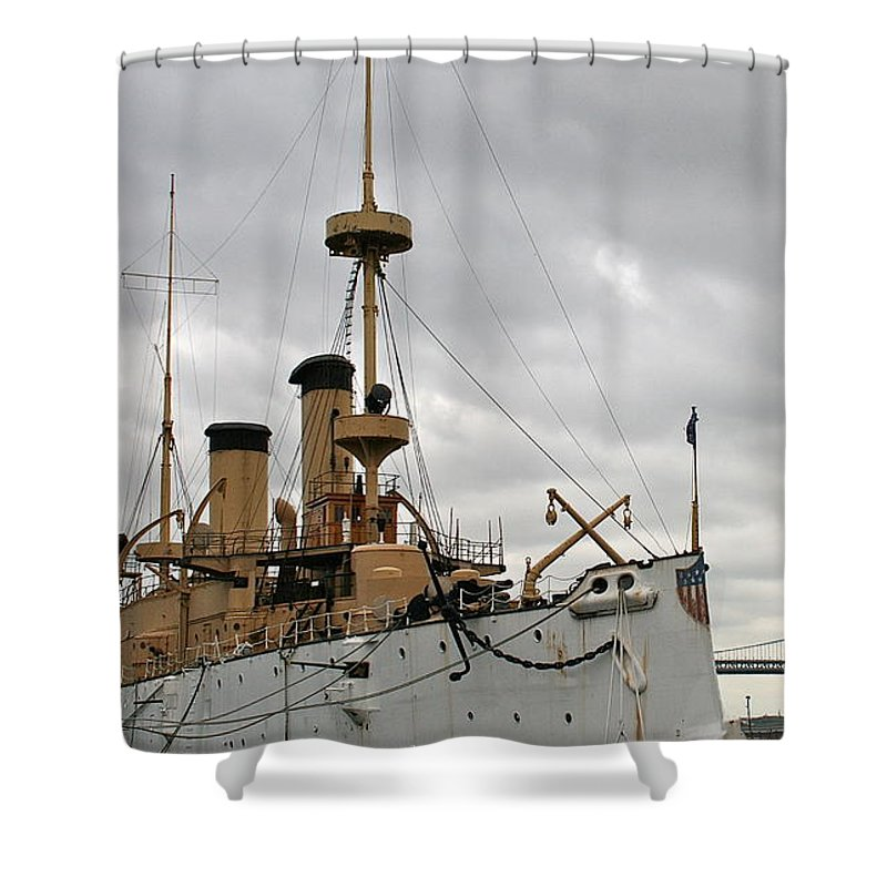 Olympia Shower Curtain featuring the photograph Uss Olympia by Rick Monyahan