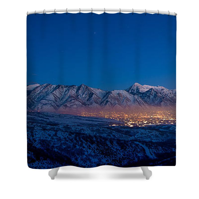 Utah Shower Curtain featuring the photograph Utah Valley by Chad Dutson