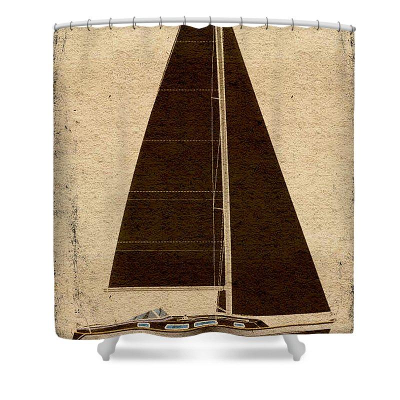 Regina Gallant Shower Curtain featuring the drawing v by Regina Marie Gallant