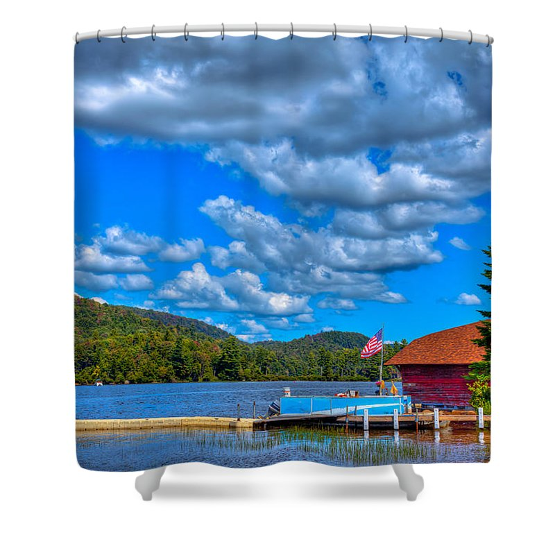 Big Moose Lake Shower Curtain featuring the photograph Vacationing On Big Moose Lake by David Patterson