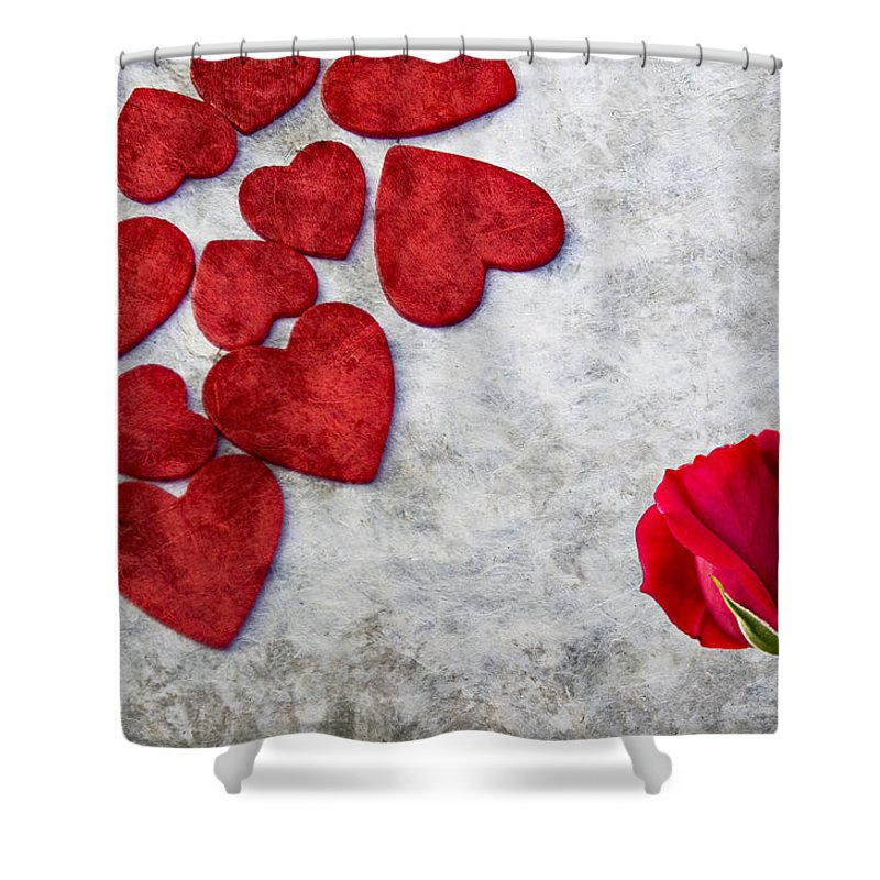 Background Shower Curtain featuring the photograph Valentine's Day by Paulo Goncalves