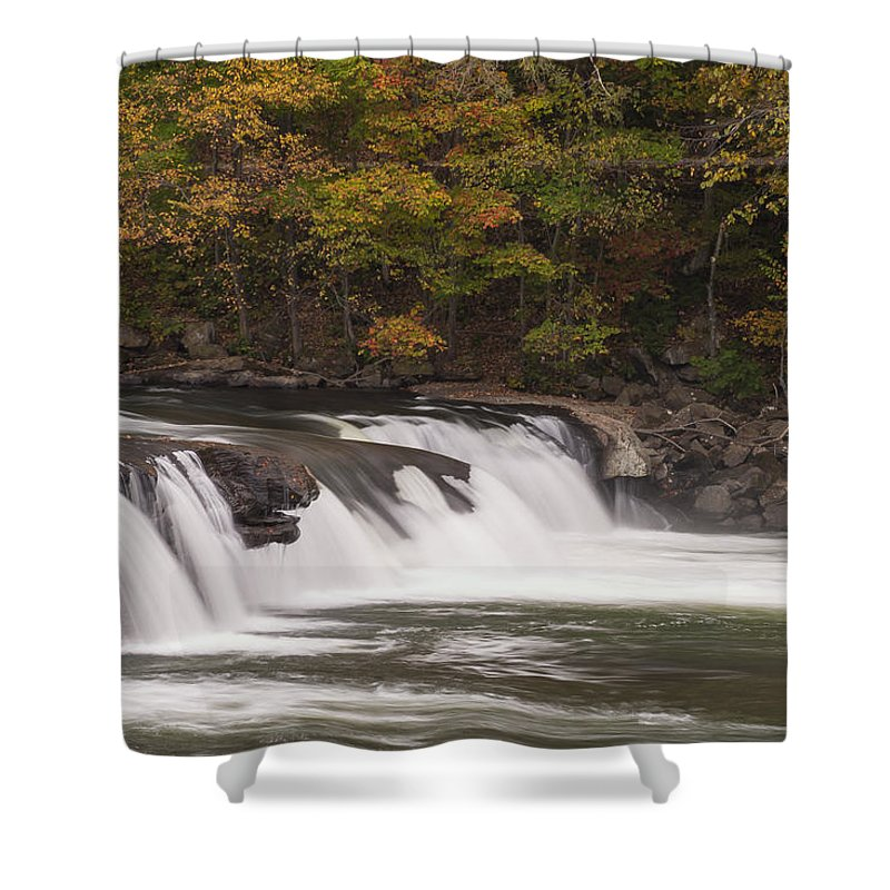 Waterfall Shower Curtain featuring the photograph Valley Falls Scene 2 by John Brueske