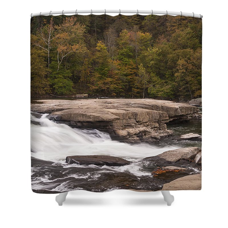 Waterfall Shower Curtain featuring the photograph Valley Falls Scene 4 by John Brueske