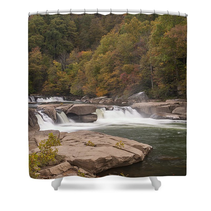 Waterfall Shower Curtain featuring the photograph Valley Falls Scene 7 by John Brueske