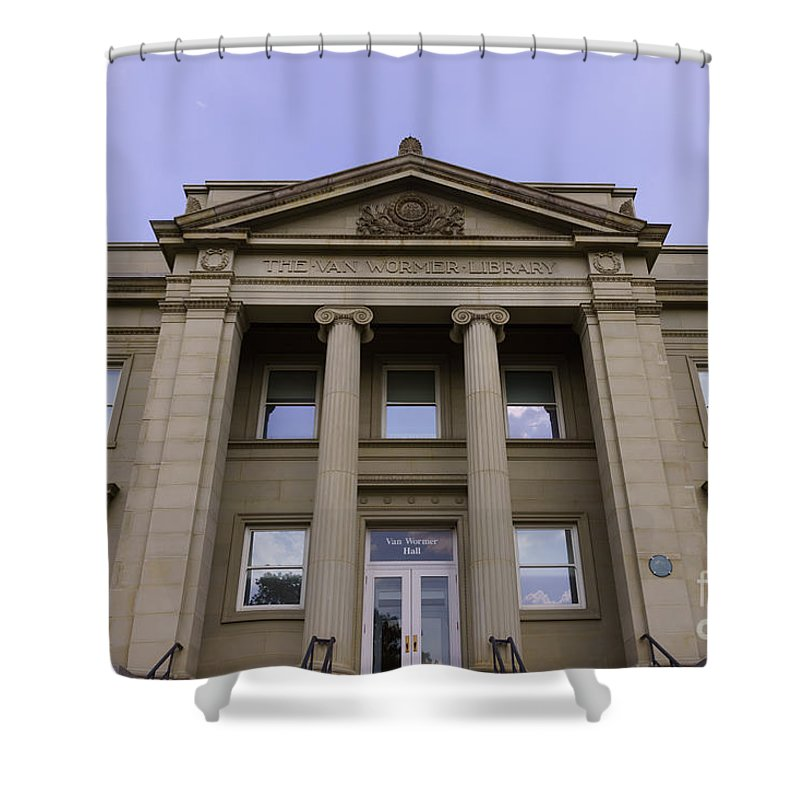 America Shower Curtain featuring the photograph Van Wormer Library At The University Of Cincinnati by Paul Velgos