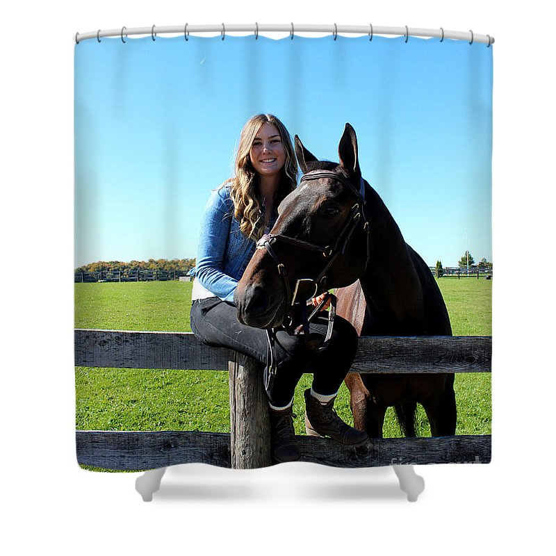 Shower Curtain featuring the photograph Vanessa Fritz 16 by Life With Horses