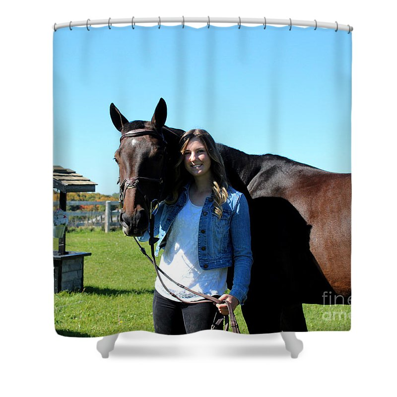 Shower Curtain featuring the photograph Vanessa Fritz 19 by Life With Horses