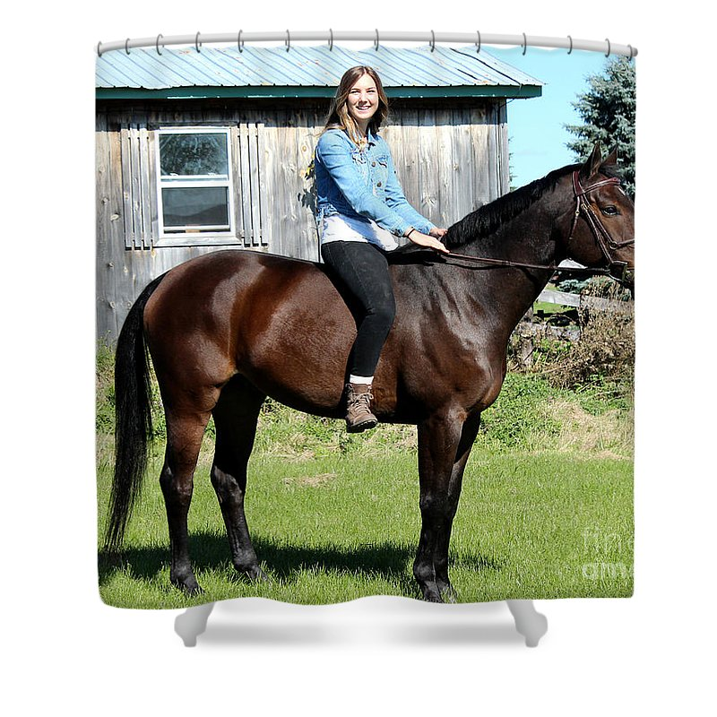 Shower Curtain featuring the photograph Vanessa Fritz 26 by Life With Horses