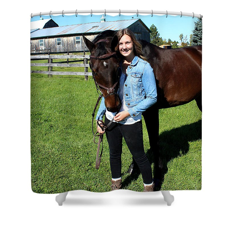 Shower Curtain featuring the photograph Vanessa Fritz 8 by Life With Horses