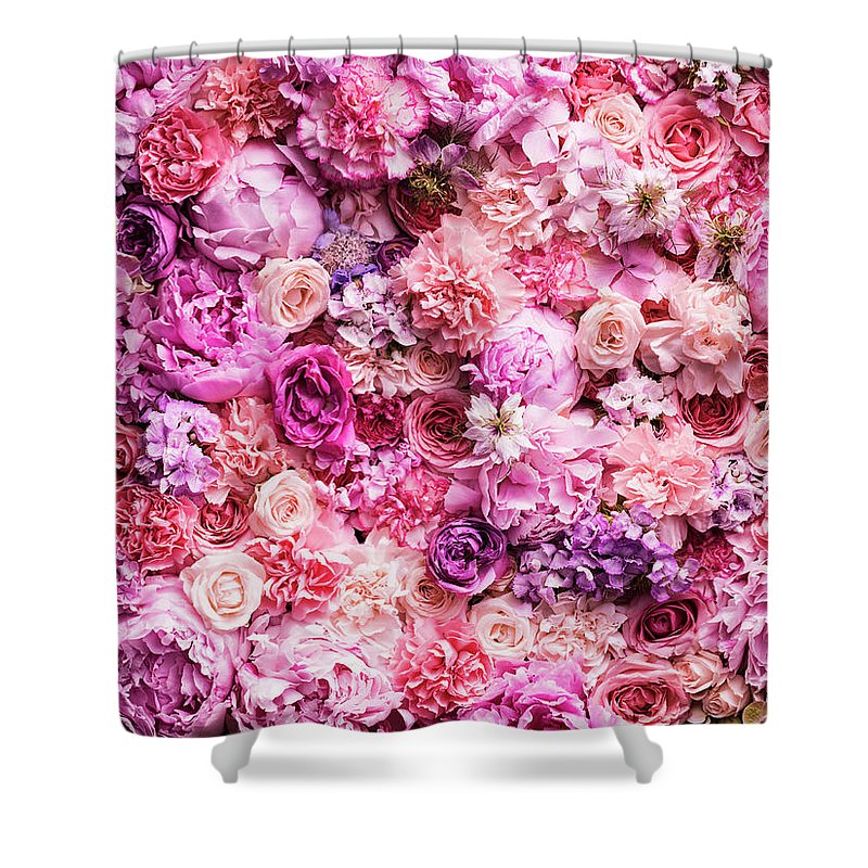 Tranquility Shower Curtain featuring the photograph Various Cut Flowers, Detail by Jonathan Knowles