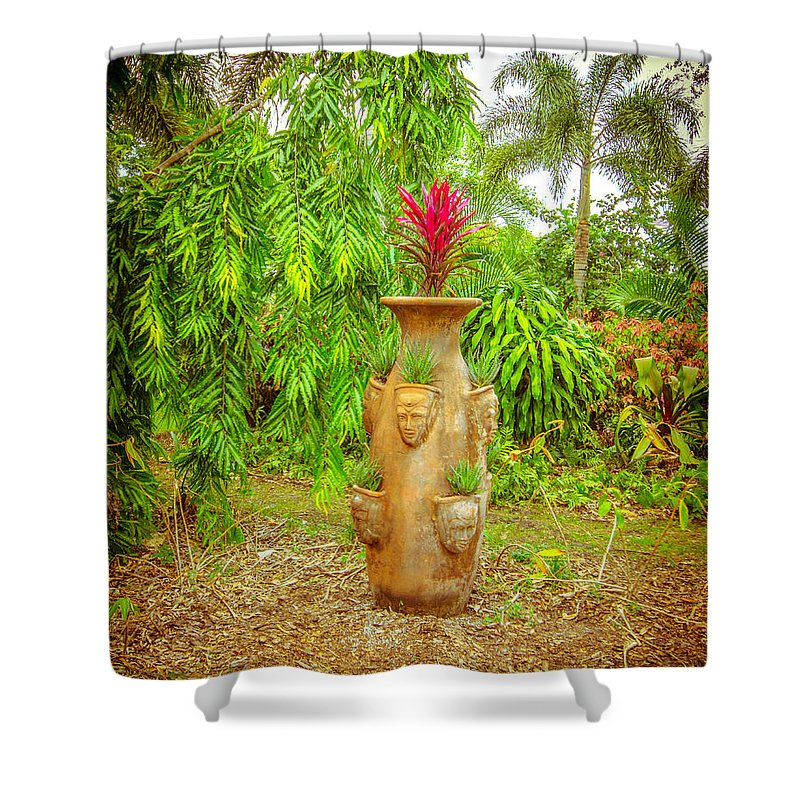 Vase Shower Curtain featuring the photograph Vase's Faces by Shirley Tinkham
