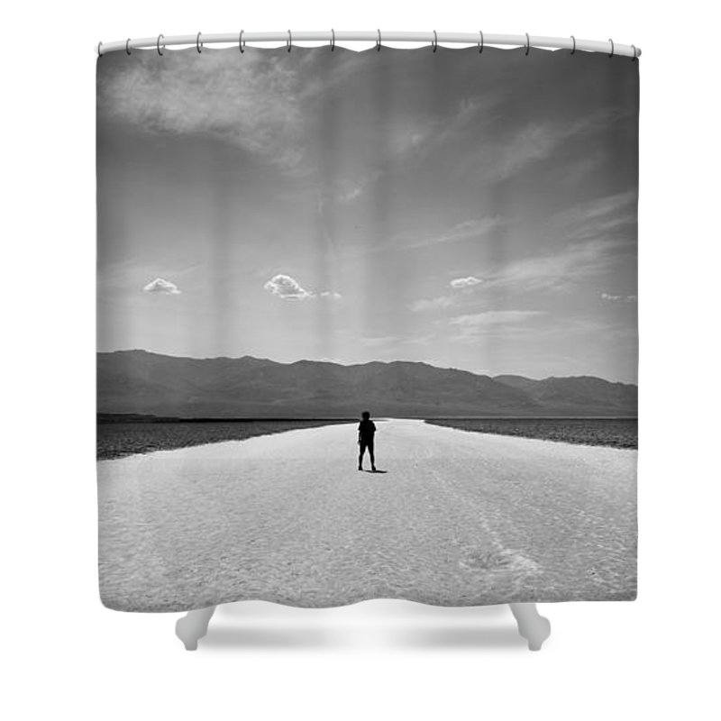 Alone Shower Curtain featuring the photograph Vast by Peter Tellone