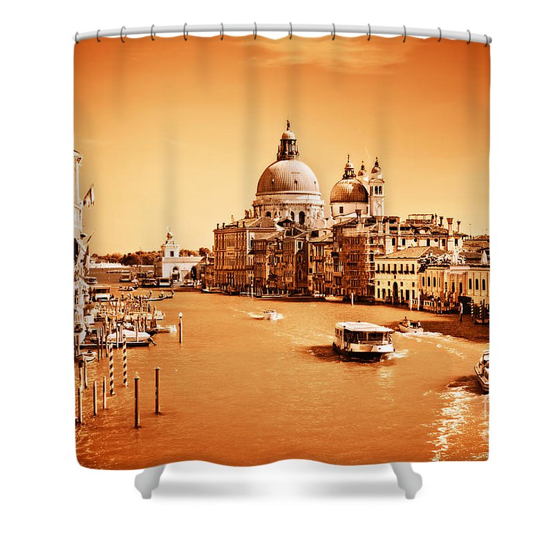 Venice Shower Curtain featuring the photograph Venice Italy Grand Canal by Michal Bednarek