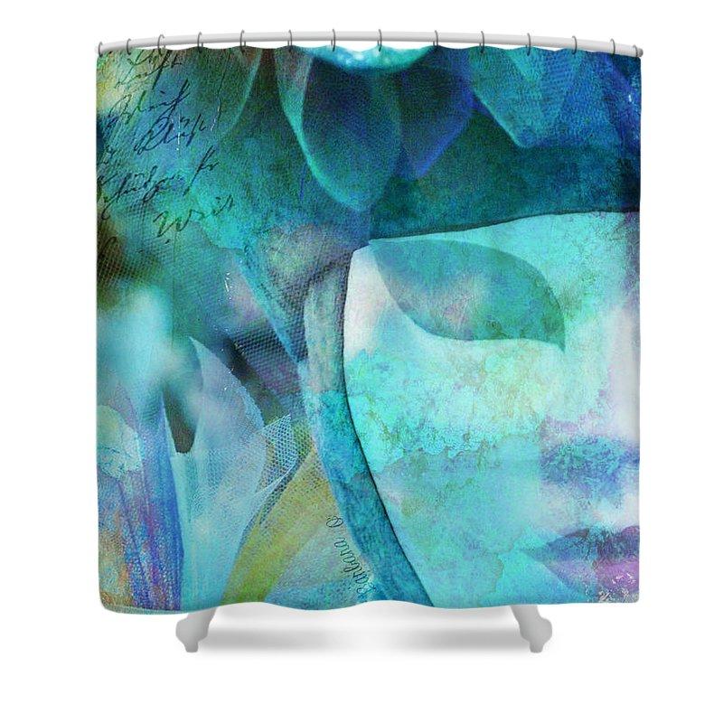 Carnival Shower Curtain featuring the photograph Venitian Carnival - Mask by Barbara Orenya