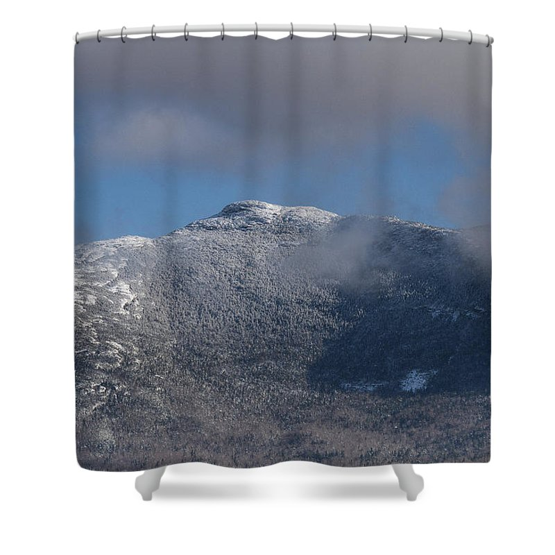 Vermont Shower Curtain featuring the photograph Vermont Mount Mansfield Winter Green Mountains by Andy Gimino