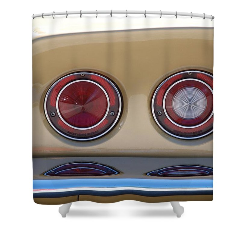 Corvette Shower Curtain featuring the photograph Vette Lights by Rob Hans