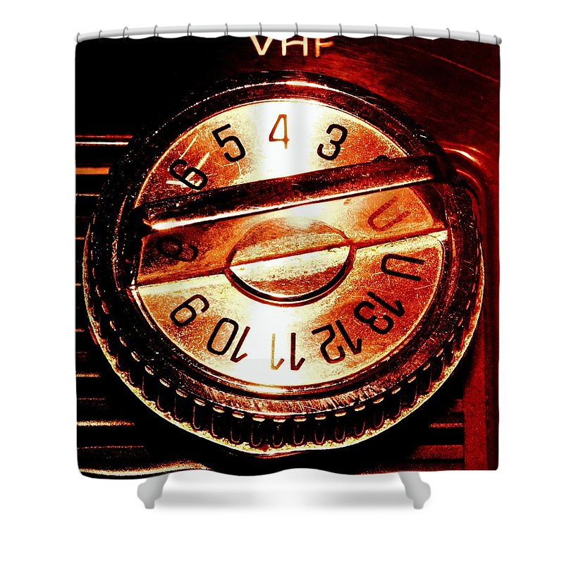 Tv Shower Curtain featuring the photograph VHF by Benjamin Yeager