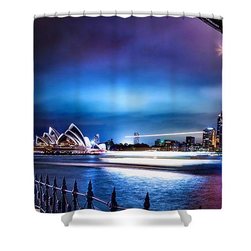 Sydney Shower Curtain featuring the photograph Vibrant Sydney Harbour by Az Jackson