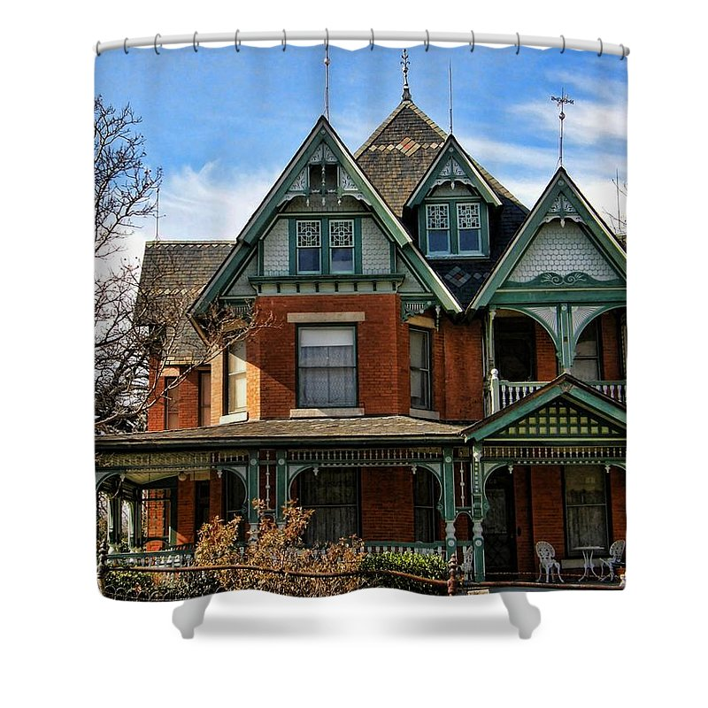 Victorian House Shower Curtain featuring the photograph Victorian House by Shannon Story