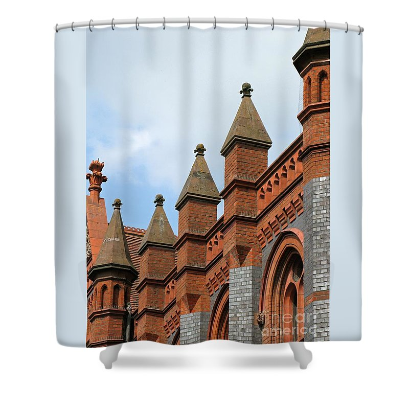 Victorian Shower Curtain featuring the photograph Victorian Orange by Ann Horn