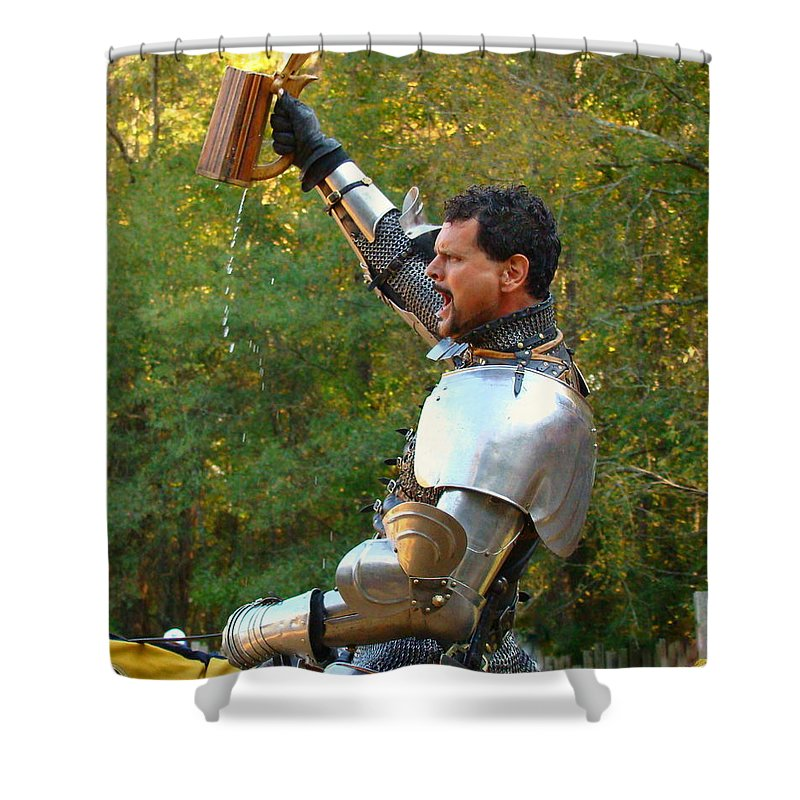 Fine Art Shower Curtain featuring the photograph Victory by Rodney Lee Williams