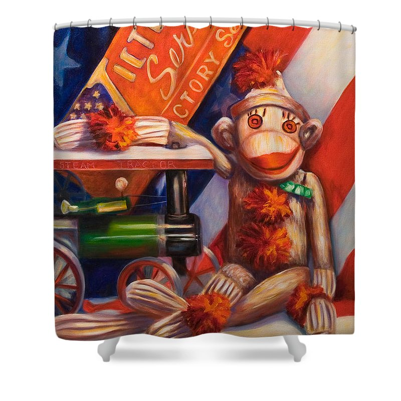 4th Of July Shower Curtain featuring the painting Victory by Shannon Grissom