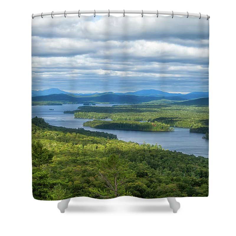 Tranquility Shower Curtain featuring the photograph View From Bald Mountain by Barbara Friedman