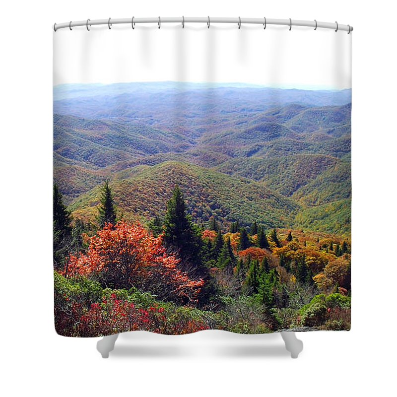 Duane Mccullough Shower Curtain featuring the photograph View From Devil's Courthouse Mountain by Duane McCullough