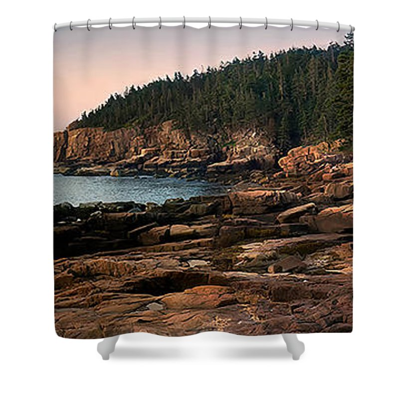 Acadia National Park Shower Curtain featuring the photograph View From Ocean Drive Maine by Jerry Fornarotto
