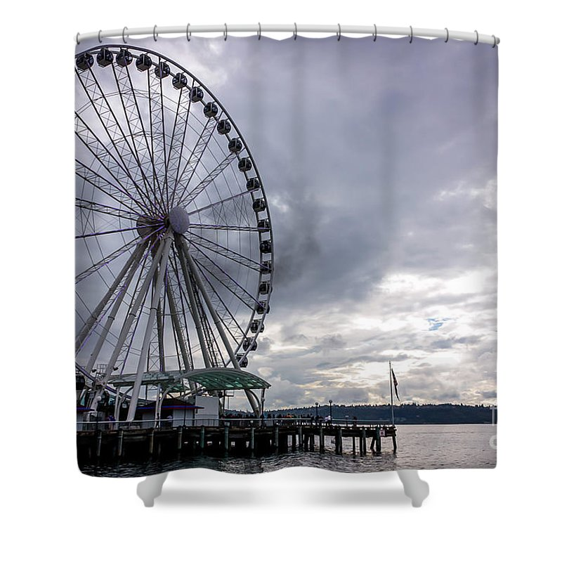 Shower Curtain featuring the photograph View From The Top by DAC Photo