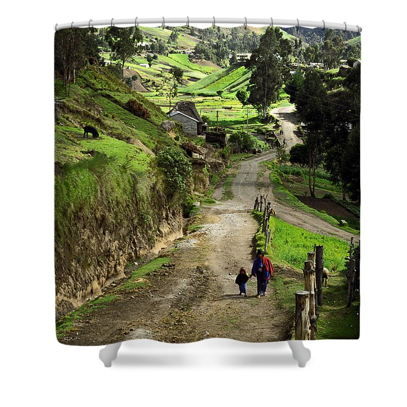 Ecuador Shower Curtain featuring the photograph View Of Lupaxi by Kathy McClure