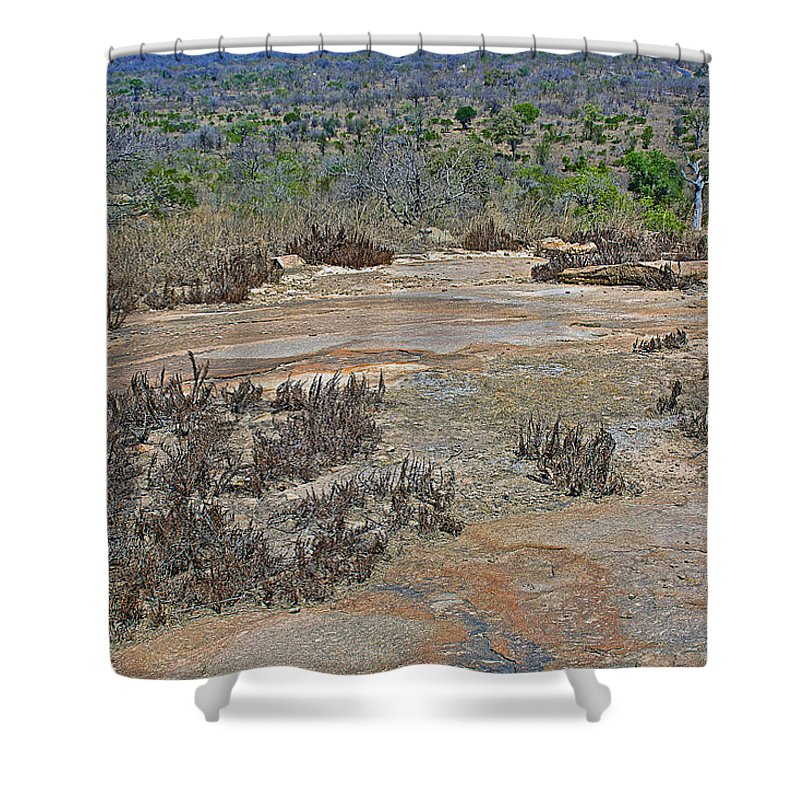 View One From Matekenyane In Kruger National Park Shower Curtain featuring the photograph View One From Matekenyane In Kruger National Park-south Africa by Ruth Hager