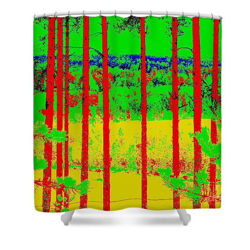 Landscape Shower Curtain featuring the photograph View by Pauli Hyvonen