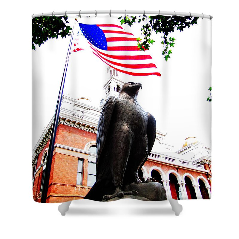 Ron Tackett Shower Curtain featuring the photograph Vigilant In Sevierville by Ron Tackett