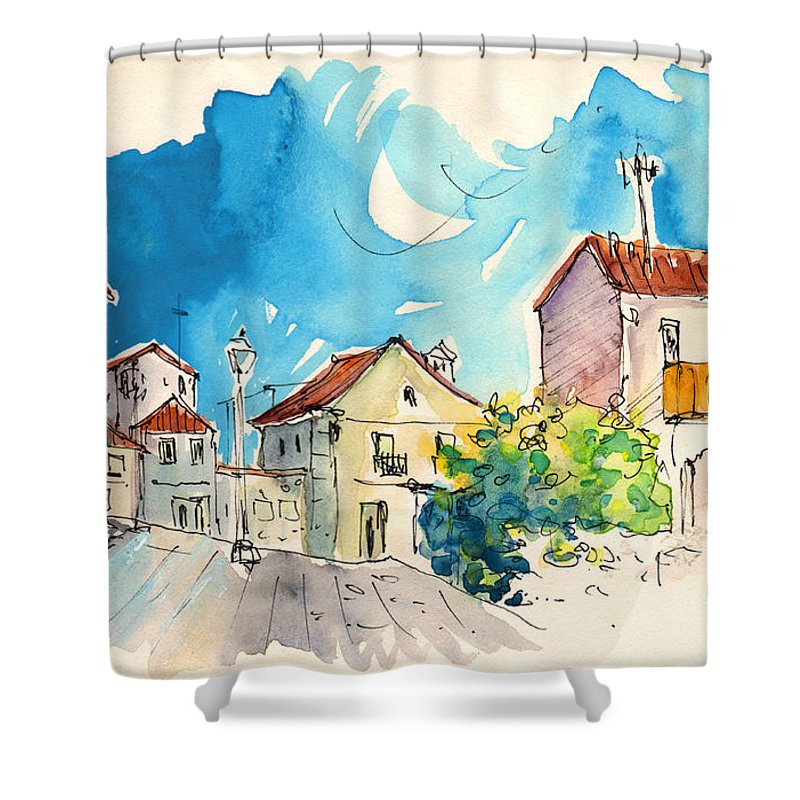 Travel Shower Curtain featuring the painting Vila Do Conde 05 by Miki De Goodaboom