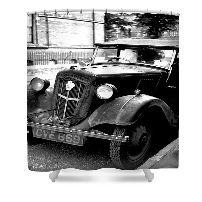 Vintage Automobile Shower Curtain featuring the photograph Vintage Autocar II by Cathy Anderson