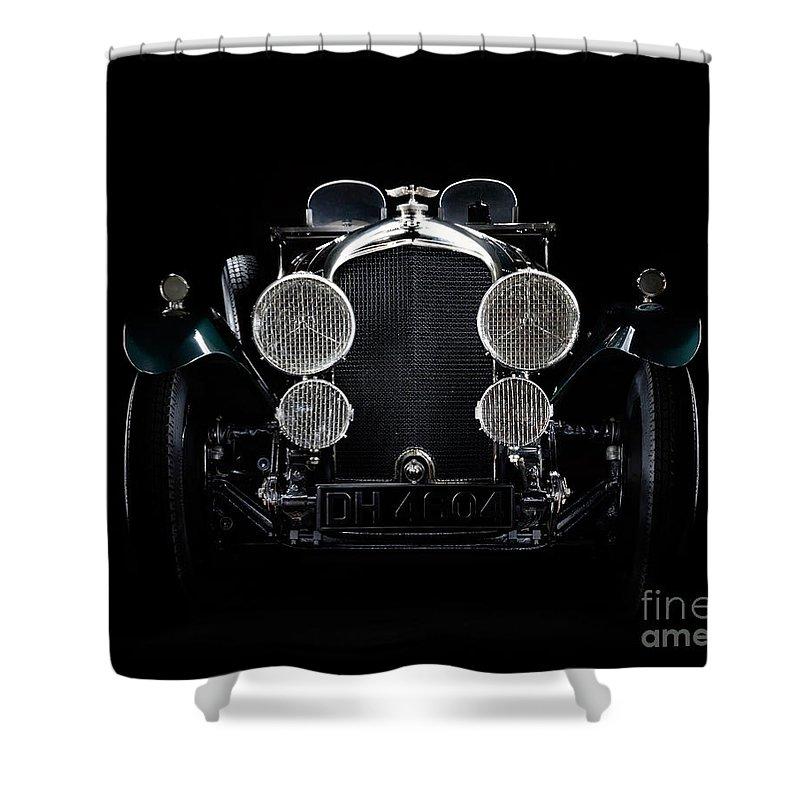 Bentley Shower Curtain featuring the photograph Vintage Bentley 4.5 Liter by Frank Kletschkus