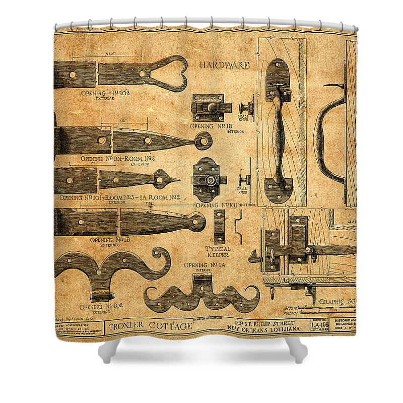 Vintage Blueprints 5 Shower Curtain for Sale by Andrew Fare