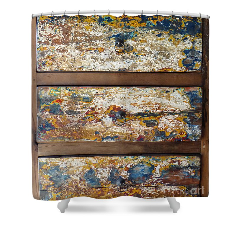 Chest Of Drawers Shower Curtain featuring the photograph Vintage Chest Of Drawers by To-Tam Gerwe
