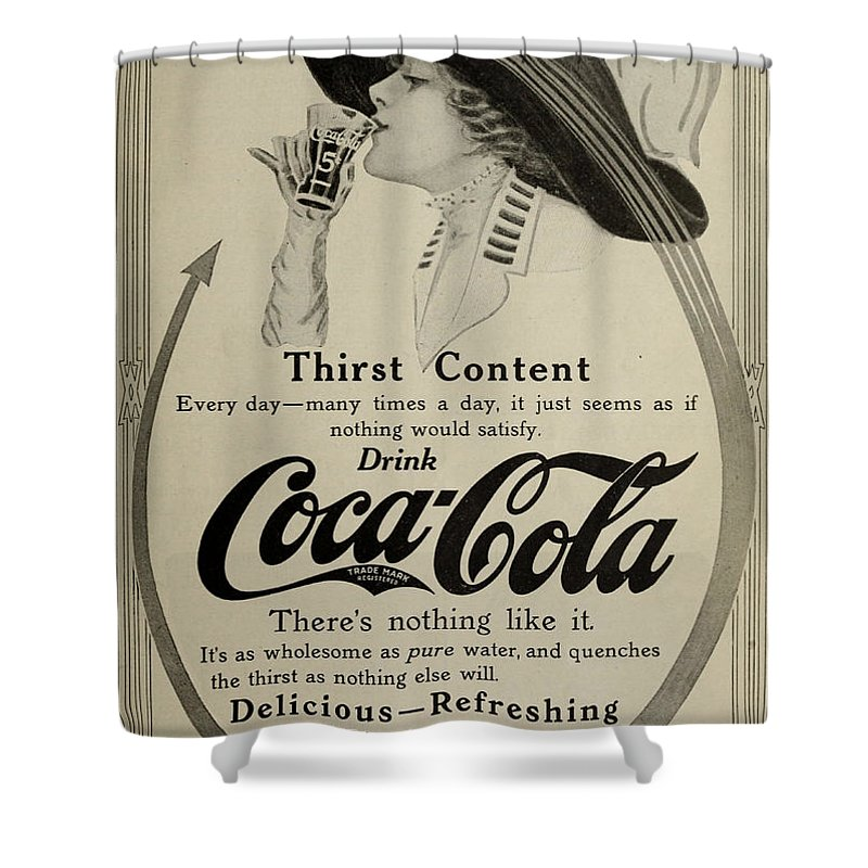 1911 Shower Curtain featuring the photograph Vintage Coca Cola Ad 1911 by Georgia Fowler