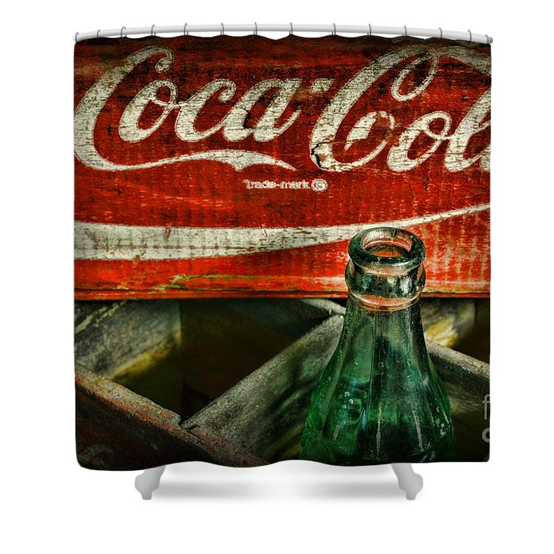 Vintage coca cola shower curtain for sale by paul ward - Bathroom coca cola shower curtain ...