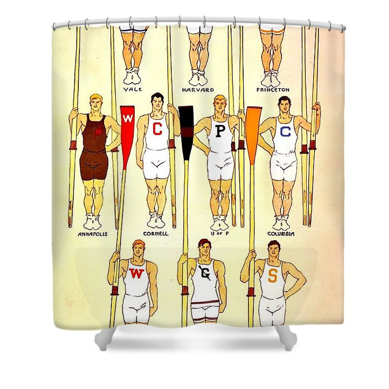 Vintage Shower Curtain featuring the photograph Vintage Crew Poster by Benjamin Yeager